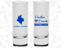 Colombia Shooters, Colombia Wedding, Wedding Shooter Glass, Destination Shooters, Tall Shot Glass, Cartagena Shooters (168)