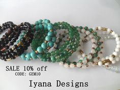 Beautiful gemstone jewelry at iyanadesigns.etsy.com