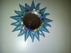 Funky Starburst Mirror. Embellished. Display piece only. One of a kind.