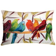 Colorful birds on a pillow from Joss & Main