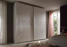Furniture In Fashion Lisbon Sliding Wardrobe In White And High Gloss Fronts Armoire Design, Bedroom Cupboard Designs, Wardrobe Design Bedroom, Bedroom Cupboards, Bedroom Bed Design, Home Decor Furniture, Bedroom Furniture, Bedroom Decor, Sliding Cupboard