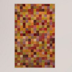 Squares Sunset Wool Tufted Rug