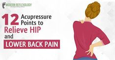 Hip and lower back pain are common complaints among aged adults caused by excessive strain. Know 12 useful acupressure points for lower back and hip pain. Lower Back Pain Relief, Neck And Back Pain, Hip Pain, Acupressure Treatment, Acupressure Points, Acupuncture, Acupressure Therapy, Massage Benefits, Massage Techniques