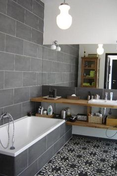 Welbie sanitair badkamer millingen aan de rijn eindresultaat strak meubel met veel - Badkamer tegel cement ...
