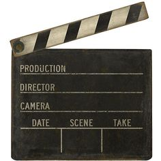 Ballard Designs Film Clapboard ($129) ❤ liked on Polyvore featuring home, home decor, fillers, backgrounds, decor, black, black home decor and ballard designs