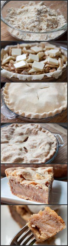 Old Fashioned Apple Pie No Bake Treats, No Bake Desserts, Just Desserts, Delicious Desserts, Dessert Recipes, Yummy Food, Apple Recipes, Baking Recipes, Old Fashioned Apple Pie