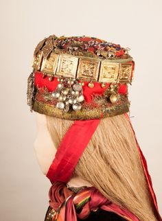 Folk Clothing, Headdress, Norway, Captain Hat, Europe, Museum, Posters, Costumes, Embroidery