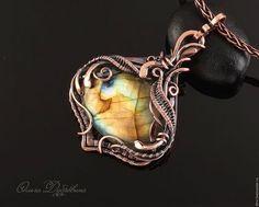 Copper wire wrapped pendant / Кулоны, подвески ручной работы. Ярмарка Мастеров…