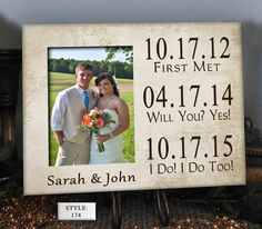 DATES Wedding Gift for Couple Wedding Gift by PhotoFrameCompany, $29.99
