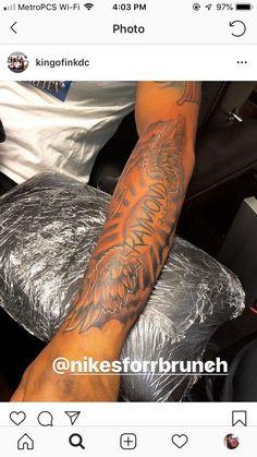 Bicep Tattoo Men, Forearm Tattoo Quotes, Inner Bicep Tattoo, Forarm Tattoos, Forearm Sleeve Tattoos, Dope Tattoos, Best Sleeve Tattoos, Tattoo Script, Baby Tattoos