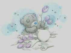 Miranda Wassing uploaded this image to 'krabbelplaatjes/Me_to_you/bloemen'. See the album on Photobucket. Teddy Bear Images, Teddy Pictures, Bear Pictures, Cute Pictures, Tatty Teddy, Bear Graphic, Blue Nose Friends, Bear Illustration, Love Bear