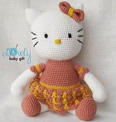 2000 Free Amigurumi Patterns: Free Hello Kitty crochet pattern