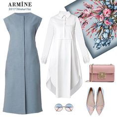 Simple and smart Simple and smart Muslim Fashion, Modest Fashion, Hijab Fashion, Girl Fashion, Fashion Dresses, Fashion Design, Fashion Clothes, Modest Clothing, Modest Dresses