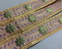 Check out our pink jacquard ribbon selection for the very best in unique or custom, handmade pieces from our shops. Bohemian Rug, Weaving, Ribbon, Rugs, Metal, Mauve, Floral, How To Make, Pink