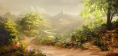 Image result for fantasy landscape paintings