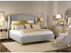 Shop for Vanguard Master Bedroom Sets, VG_RS_V1728K-HF_P531L, and other Master Bedroom Sets at Norris Home Furnishings in Fort Myers and Naples, FL. P531L-CD - Swedish Side Table (2). Finish: Cloud Nine. Antique Nickel hardware.  P533D-CD - Swedish Drawer Chest. Finish: Cloud Nine.