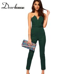 331b6b2271f Hot sell Plus Size S XXL combinaison women Sexy Strapless V neck Jumpsuits    Rompers with Pleated Bust overalls for women LC6211-in Jumpsuits from  Women s ...