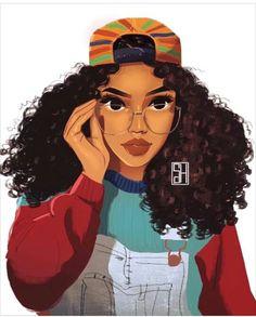 Risultati immagini per black girl drawing Black Girl Art, Black Women Art, Black Girl Magic, Art Girl, Black Girls Drawing, Pretty Girl Drawing, Black Girl Cartoon, African American Art, African Art