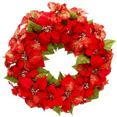 Christmas at Winterland WL-PSWR-02-RE Multicolor Poinsettia 2 Foot Poinsettia Wreath WL-PSWR-02-RE. Christmas at Winterland WL-PSWR-02-RE 2 Foot Poinsettia WreathAdd some beautiful color to your holiday decorations with this stunning poinsettia and holly wreath. Accented by snowy white sprinkles and measuring at 24 inches in diameter, this polyester wreath will make a bold statement in a doorway, window, or wall. Christmas at Winterland WL-PSWR-02-RE Features:2 Foot Poinsettia WreathSuitable…