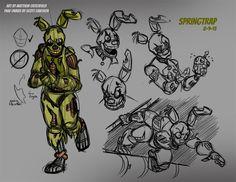 FNAF - Springtrap Sketches 01 - by on DeviantArt Fnaf Drawings, Easy Drawings, Five Nights At Freddy's, Fnaf Sl, Fnaf Sister Location, Fnaf Characters, Guy Pictures, The Villain, Art Sketches