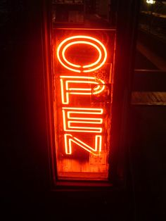 #Open neon signs Frankie And Bennys, Love Neon Sign, Neon Words, Open Signs, Show Me The Way, Typo Logo, Neon Glow, Street Signs, Bar Signs