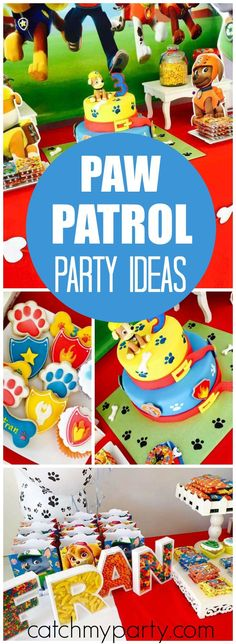 What a fun Paw Patrol birthday party! See more party ideas at CatchMyParty.com!