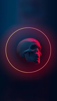 Sliced skull Abstract wallpaper for iPhone