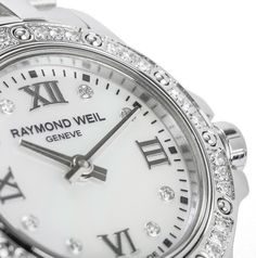 """Raymond Weil Women's """"Tango"""" Diamond-Accented Stainless Steel Watch Women's Watches, Cool Watches, Raymond Weil, Best Watches For Men, Stainless Steel Watch, Tango, Omega Watch, My Style, Diamond"""