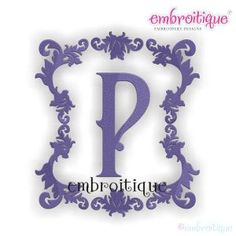 Font Frames - Venetian Font Frame on sale now at Embroitique!