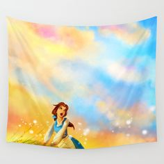 This Provincial Life Wall Tapestry. #movies-tv #illustration #painting #childrens
