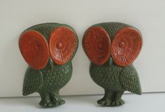 1970's Owl Wall Plaques set of 4.