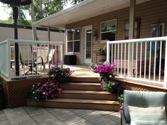 The back deck...