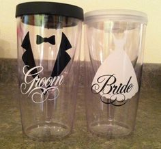 Bride/ Groom Wine Tumblers
