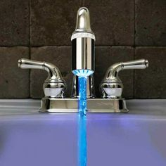 LED color changing (according to the water temp) faucet nozzle. This is super cool!