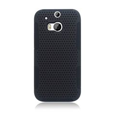 Eaglecell Hybrid Mesh HTC One M8 Case - Black/Black