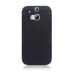 Eaglecell Hybrid Mesh HTC One M8 Case - Black/Black