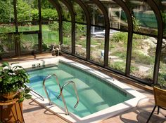 Perfect Ideas For Indoor Swimming Pool Ideas. Below are the Ideas For Indoor Swimming Pool Ideas. This article about Ideas For Indoor Swimming Pool Ideas was posted Luxury Swimming Pools, Luxury Pools, Indoor Swimming Pools, Dream Pools, Swimming Pool Designs, Lap Pools, Small Indoor Pool, Small Pools, Outdoor Pool
