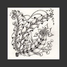 Fairy Tangles: A Few New Zentangles Zentangle Drawings, Doodles Zentangles, Zentangle Patterns, Zen Doodle, Doodle Art, Doodle Ideas, Zen Design, Tangle Art, Fairy Art