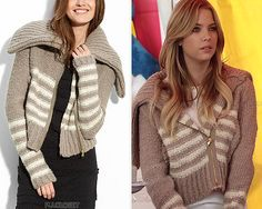 Hanna wore this snug knitted jacket in 1x21 'Monsters In The End'. Marc by Marc Jacobs 'Frankie Sweater' - no longer available