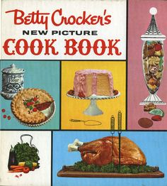 Betty Cocker's New Picture Cook Book.  I have the 1961hardbound version, First Edition, Fourth Printing. Not the spiral-bound. This was my mother's go-to cookbook when we were kids.