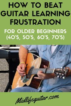 How To Beat Guitar Learning Frustration - Older Beginners Guitar Chords For Songs, Guitar Tips, Music Guitar, Playing Guitar, Acoustic Guitar, Learning Guitar, Learning Music, Guitar Notes, Ukulele