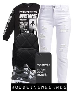 """""""1/17/16"""" by codeineweeknds ❤ liked on Polyvore featuring Mishka, Miss Selfridge, NIKE, women's clothing, women's fashion, women, female, woman, misses and juniors"""