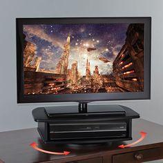 The 360° Swiveling TV Stand - Hammacher Schlemmer