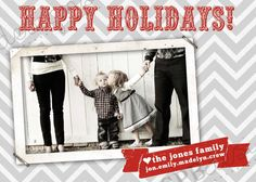Christmas photo card ideas - especially good for parents that don't like their picture taken.