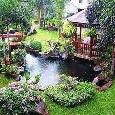 40 Amazing Backyard Pond Design Ideas | Pond design, Pond and Backyard