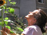 Lola Bloom co-founder of City Blossoms, DC. She teaches kids to love the earth and eat their veggies.