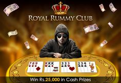Join the Royal Rummy Club by winning maximum amount during the promotion period of 2 days. Win cash prizes worth Rs.25,000 today just by playing your ace game.