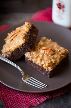 German Chocolate Brownies. Ok Im going to cheat and use a box brownie mix and the homemade topping