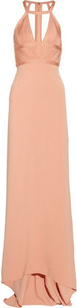 Cutout Bandage Gown http://www.lyst.com/clothing/herve-leger-cutout-bandage-gown-blush/