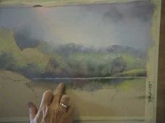 A pastel painting demonstration by Jenny Keal with commentary in front of a live audience